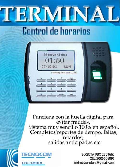 Reloj control de horarios y asistencia huella digital en bogotá