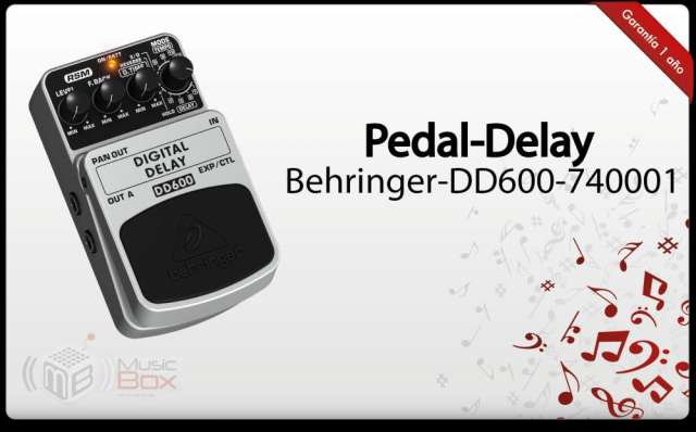 Pedal para guitarra delay behringer dd600 (rsm technology)-nuevo - musicboxcolombia