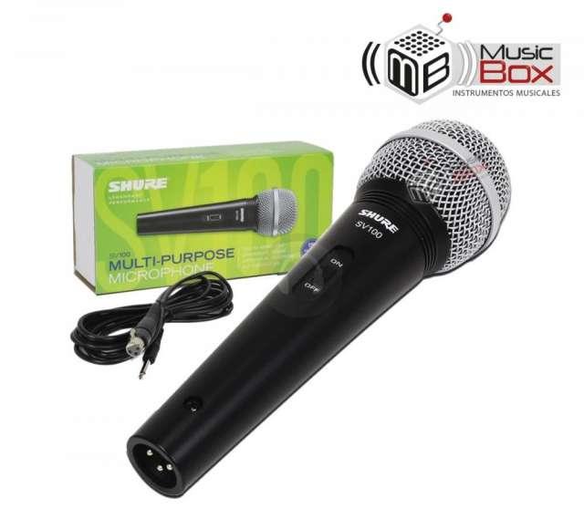 Microfono shure sv-100 + cable - nuevo - musicboxcolombia