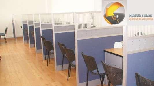 Fotos de Divisiones piso techo para oficina 2