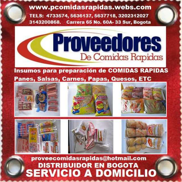 Fotos de Comidas rapidas, panes, salsas, carnes, papas, quesos, accesorios, insumos para  1
