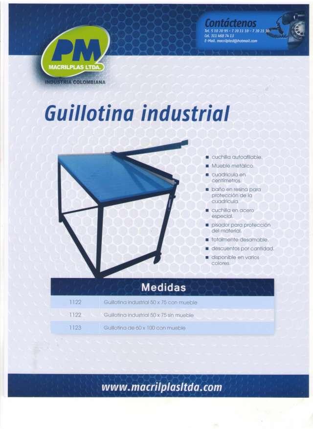Guillotina industrial