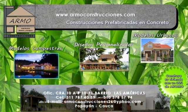 Venta de casas prefabricadas en popayan