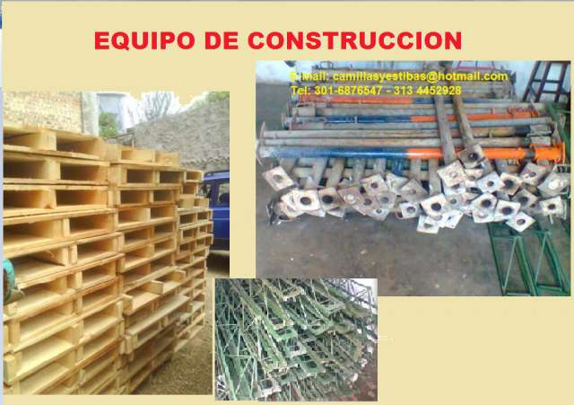 Parales metálicos, formaleta, cherchas para construccion