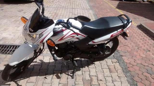 Venta moto tvs en garantia 3.000 km