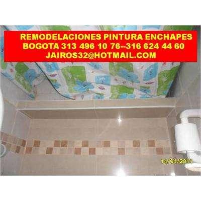 Remodelaciones pintura enchapes drywall 3134961076