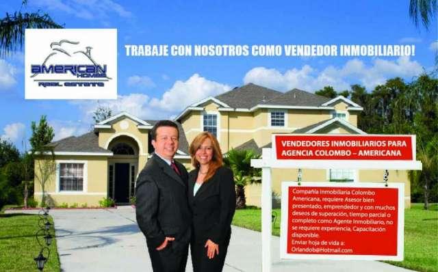 Vendedores inmobiliarios para agencia colombo ? americana