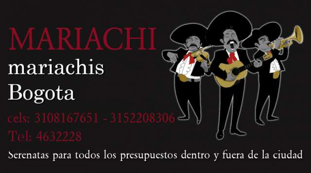 Mariachis económicos en bogota con obsequios excelente presentación personal con calidad y servicio