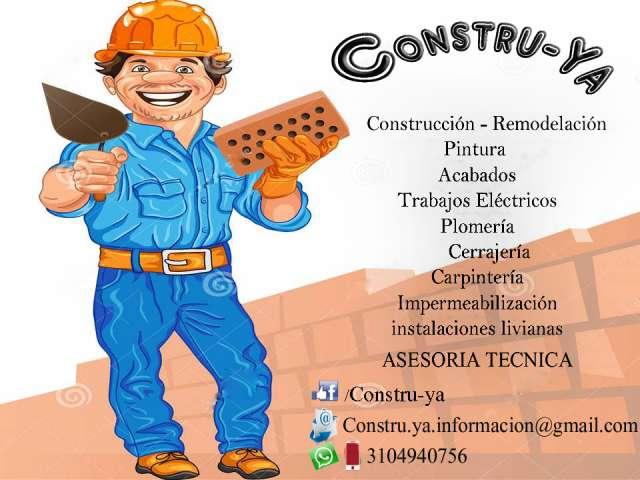 Constru-ya construcción,remodelacion,asesoría técnica.