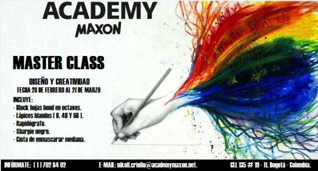 Master class diseño y creatividad academy maxon.