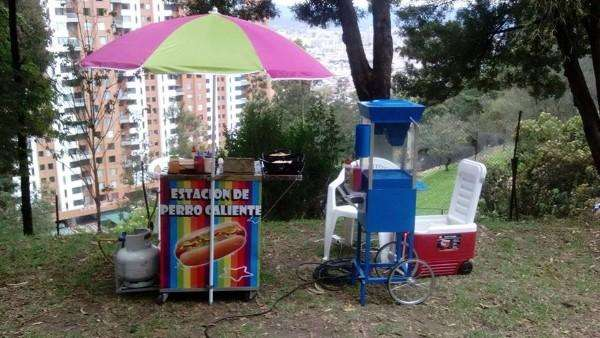 Servicio alquiler maquina crispetas, algodon de azucar, mango biche