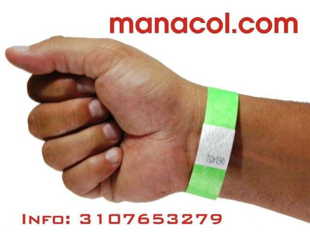 Manillas papel eventos piscina control de ingreso fiesta tyvek bares brazaletes venta en colombia cover