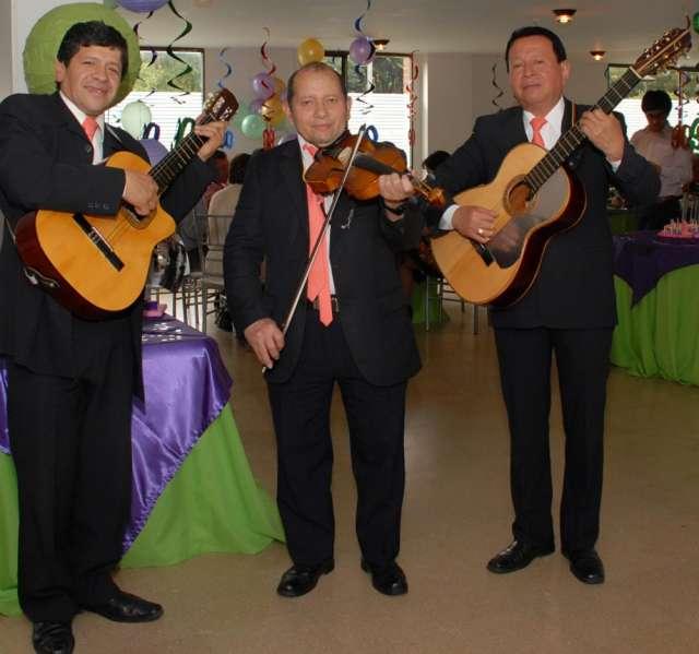 Artistas trio con violin