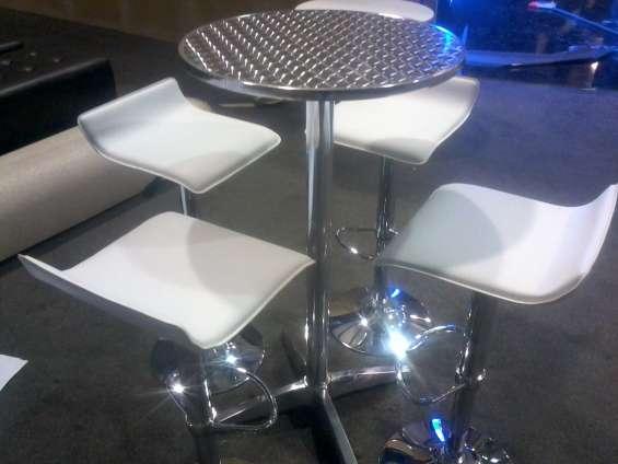 Alquiler de sillas tipo bar, barras, cocteleras, salas lounge