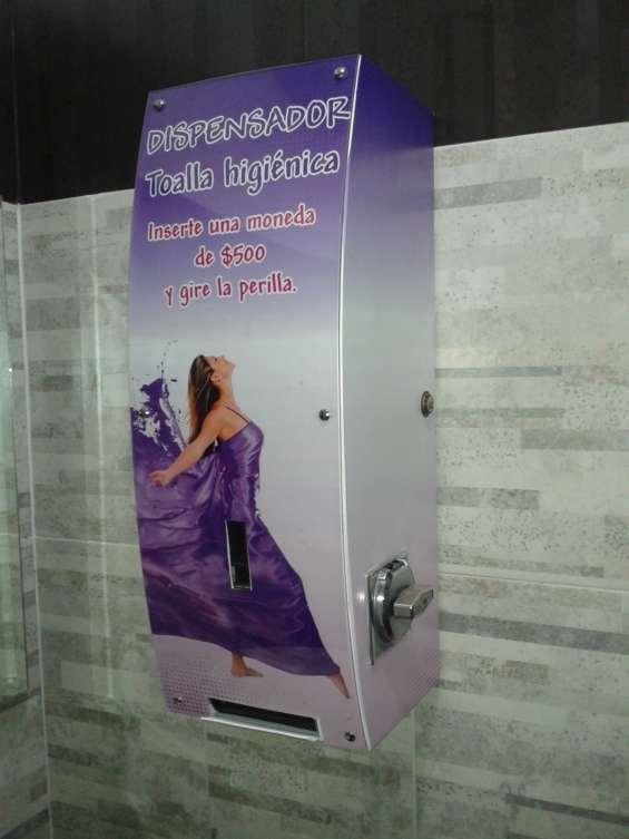 Dispensador para toallas higienicas