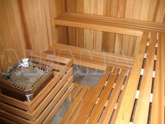 Saunas en pino canada baños turcos