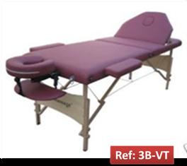 Camilla portatil para masajes y tratamentos faciales