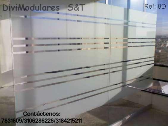Módulos en vidrio templado muebles para oficina