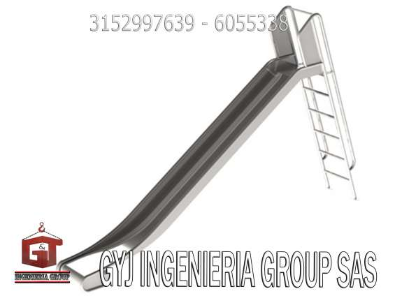 Escaleras metalicas, plataformas de carga para logistica, todo en acero inoxidable