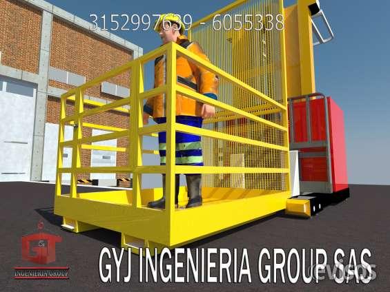 Fabricantes directos de canastillas para montacargas, seguridad industrial