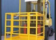Canastillas para montacargas, seguridad industrial y equipos de logística