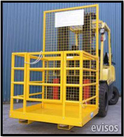 Canastillas para montacargas, carga de personal y seguridad industrial