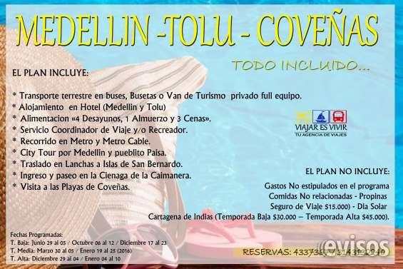 Medellín-tolú-coveñas-cartagena