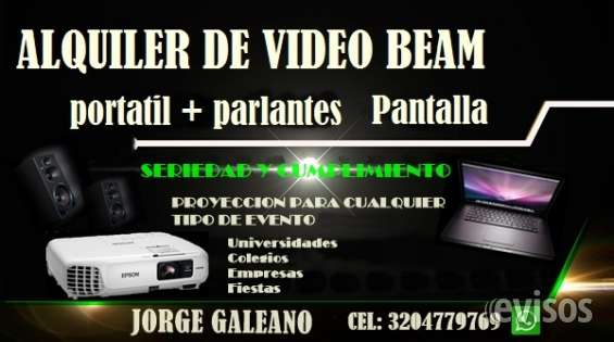 Alquiler de video beam portatil telon