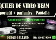 ALQUILER DE VIDEO BEAM PORTATIL TELON
