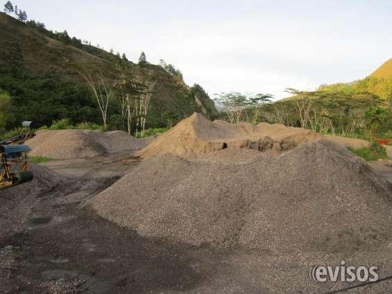 Cantera de grava, arena, material de arrastre cerca a bogotá