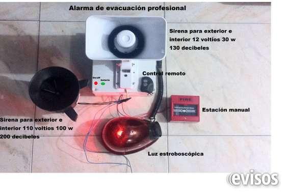 Alarma de evacuación $ 120.000 cel 3108624763