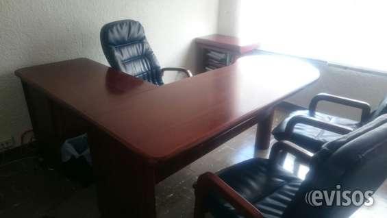 Oficina gerencial escritorio, silla principal, 2 auxiliares