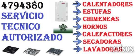 Instalación de estufas, calentadores, freidoras. tel.4794380