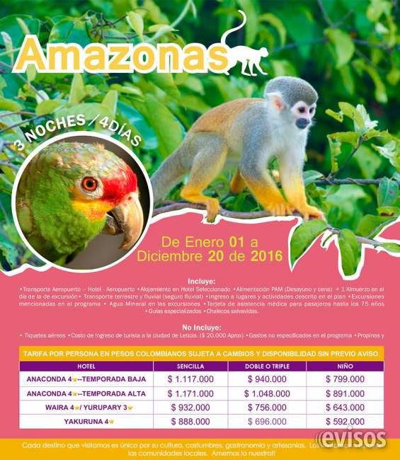 Rutas ecoturisticas de colombia