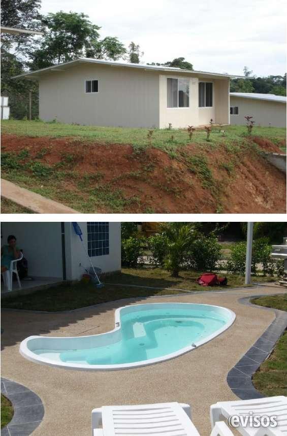 Venta de casas prefabricadas con piscina, oferta genial