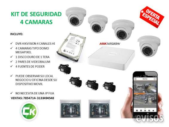 Vendo kit de seguridad 4 camaras y dvr