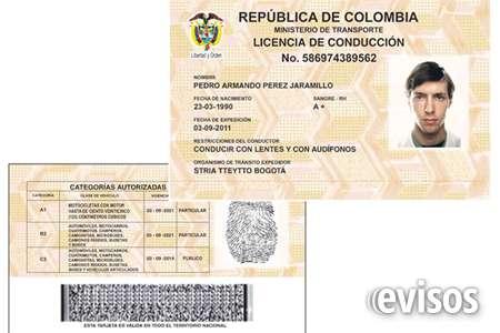 Licencia categoría b1- c1- a2