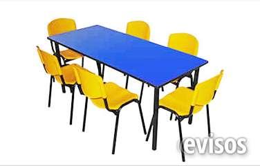 Mesa rectangular 6 puestos