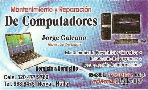 Mantenimiento reparacion servicio tecnico especializado de computadores