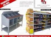 Venta de gondolas para supermercado,estanterias,puntos de pago,almacenes,uutoservicios.