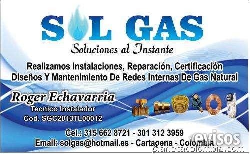 Tecnico gas natural domiciliario