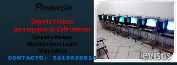 Servicio tecnico pc cafe internet