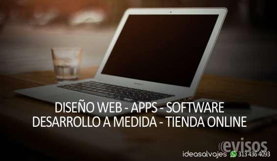 Diseño paginas web software aplicaciones tiendas online ideasalvajes