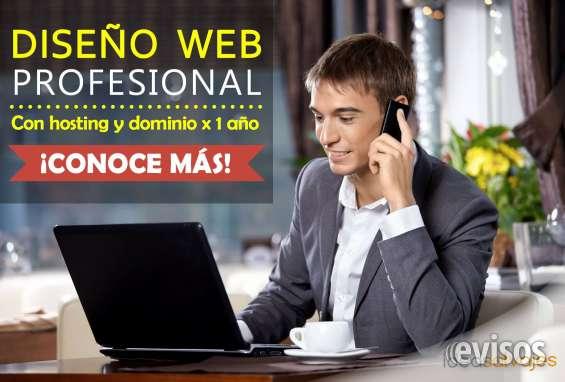 Diseño web profesional con hosting y dominio