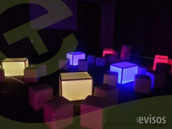 Alquiler mobiliario iluminado