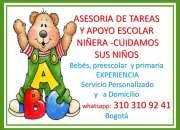 Niñera, asesoria de tareas promociones !!!