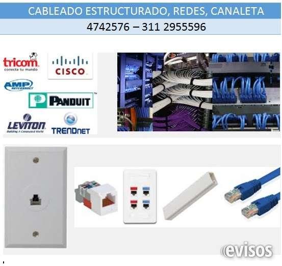Cableado estructurado, instalación de canaleta, puntos de red, de teléfono, puntos