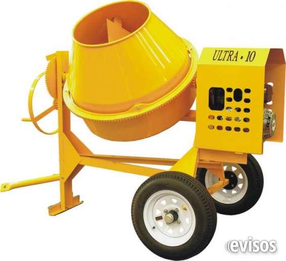 Mezcladora concreto gasolina 9 hp