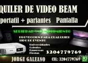 ALQUILER DE VIDEO BEAM 15 MIL HORA