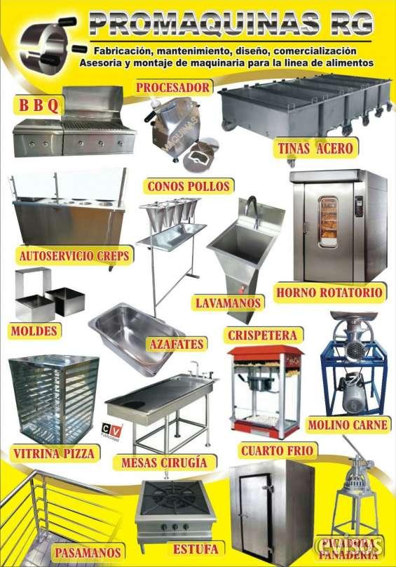 Batidora, carro comidas, tanque, laminadora, tajadora para pan, tajadora de queso y jamon